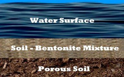 Sealing Dams with Sodium Bentonite – Mixed Blanket Method