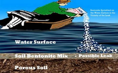 Sealing Dams With Sodium Bentonite – The Sprinkle Method
