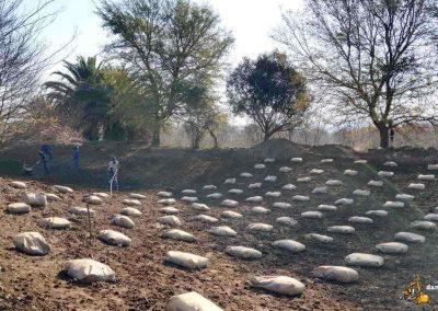 Dam Sealers - Bentonite Laid In Grid Formation